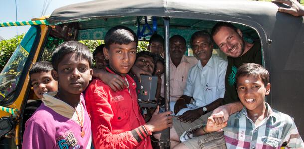 Gerhard Liebenberger in Indien