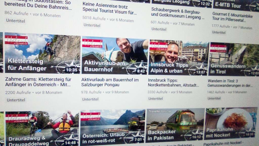 """Die """"Sommertour"""" Videos im Andersreisender YouTube Reisemagazin bieten nacherlebbare Urlaubstipps."""